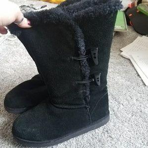Faux fur Black Suede Boots